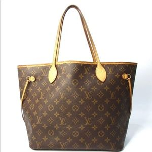 Auth Louis Vuitton Neverfull MM Shoulder Bag Tote